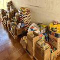 """Fundo Social entrega mais de 1 tonelada de alimentos arrecadados na """"Vacinação Solidária"""""""